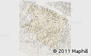 Shaded Relief 3D Map of Eastern Highlands, lighten