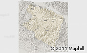 Shaded Relief 3D Map of Eastern Highlands, semi-desaturated