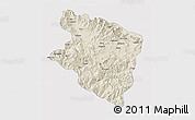 Shaded Relief 3D Map of Eastern Highlands, single color outside
