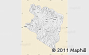Classic Style Map of Eastern Highlands, single color outside