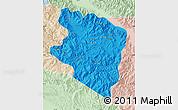 Political Map of Eastern Highlands, lighten