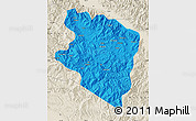 Political Map of Eastern Highlands, shaded relief outside