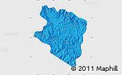 Political Map of Eastern Highlands, single color outside