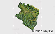 Satellite Map of Eastern Highlands, cropped outside