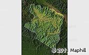 Satellite Map of Eastern Highlands, darken