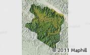 Satellite Map of Eastern Highlands, lighten
