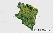 Satellite Map of Eastern Highlands, single color outside