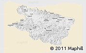 Classic Style Panoramic Map of Eastern Highlands, single color outside