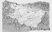 Gray Panoramic Map of Eastern Highlands