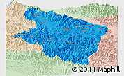 Political Panoramic Map of Eastern Highlands, lighten