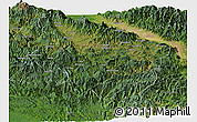 Satellite Panoramic Map of Eastern Highlands