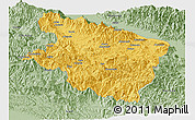 Savanna Style Panoramic Map of Eastern Highlands