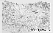 Silver Style Panoramic Map of Eastern Highlands