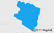 Political Simple Map of Eastern Highlands, single color outside