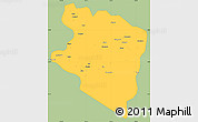 Savanna Style Simple Map of Eastern Highlands, single color outside