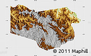 Physical Map of Enga, single color outside