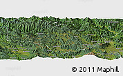 Satellite Panoramic Map of Enga