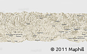 Shaded Relief Panoramic Map of Enga
