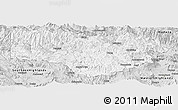 Silver Style Panoramic Map of Enga