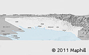 Gray Panoramic Map of Gulf