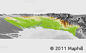 Physical Panoramic Map of Gulf, desaturated