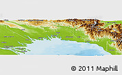 Physical Panoramic Map of Gulf