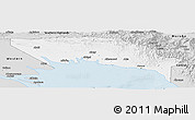 Silver Style Panoramic Map of Gulf