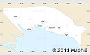 Classic Style Simple Map of Gulf, single color outside