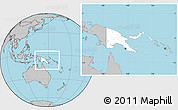 Blank Location Map of Papua New Guinea, gray outside