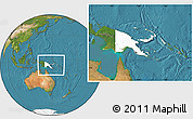Blank Location Map of Papua New Guinea, satellite outside