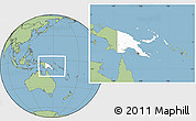 Blank Location Map of Papua New Guinea, savanna style outside