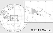 Gray Location Map of Papua New Guinea, blank outside