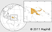Political Location Map of Papua New Guinea, blank outside