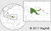Satellite Location Map of Papua New Guinea, blank outside