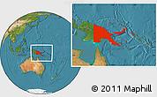 Satellite Location Map of Papua New Guinea