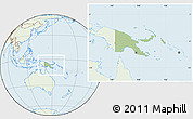 Savanna Style Location Map of Papua New Guinea, lighten