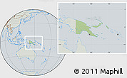 Savanna Style Location Map of Papua New Guinea, lighten, semi-desaturated