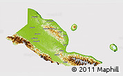 Physical 3D Map of Madang, cropped outside
