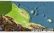 Physical 3D Map of Madang, darken