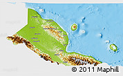 Physical 3D Map of Madang, single color outside