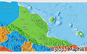 Political 3D Map of Madang