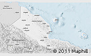Silver Style 3D Map of Madang