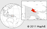 Blank Location Map of Madang, highlighted country