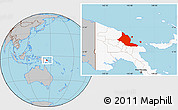 Gray Location Map of Madang, highlighted country
