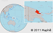 Gray Location Map of Madang
