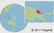 Savanna Style Location Map of Madang