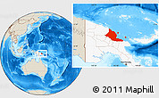 Shaded Relief Location Map of Madang, highlighted country