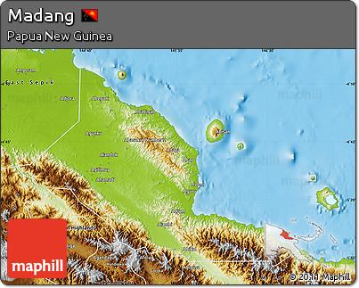 Physical Map of Madang