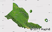 Satellite Map of Madang, cropped outside