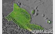 Satellite Map of Madang, desaturated